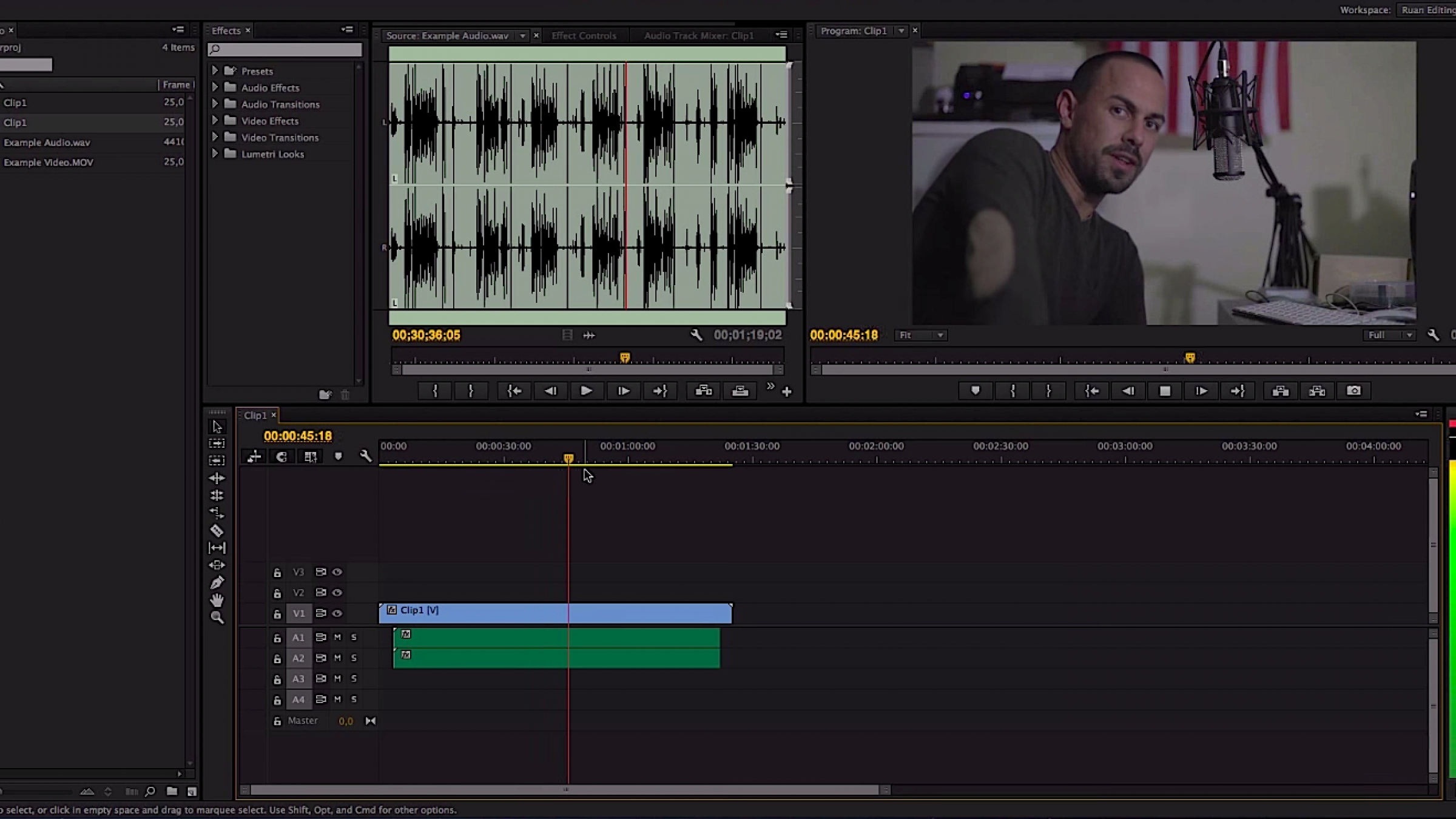 how to make audio fade out in premiere pro