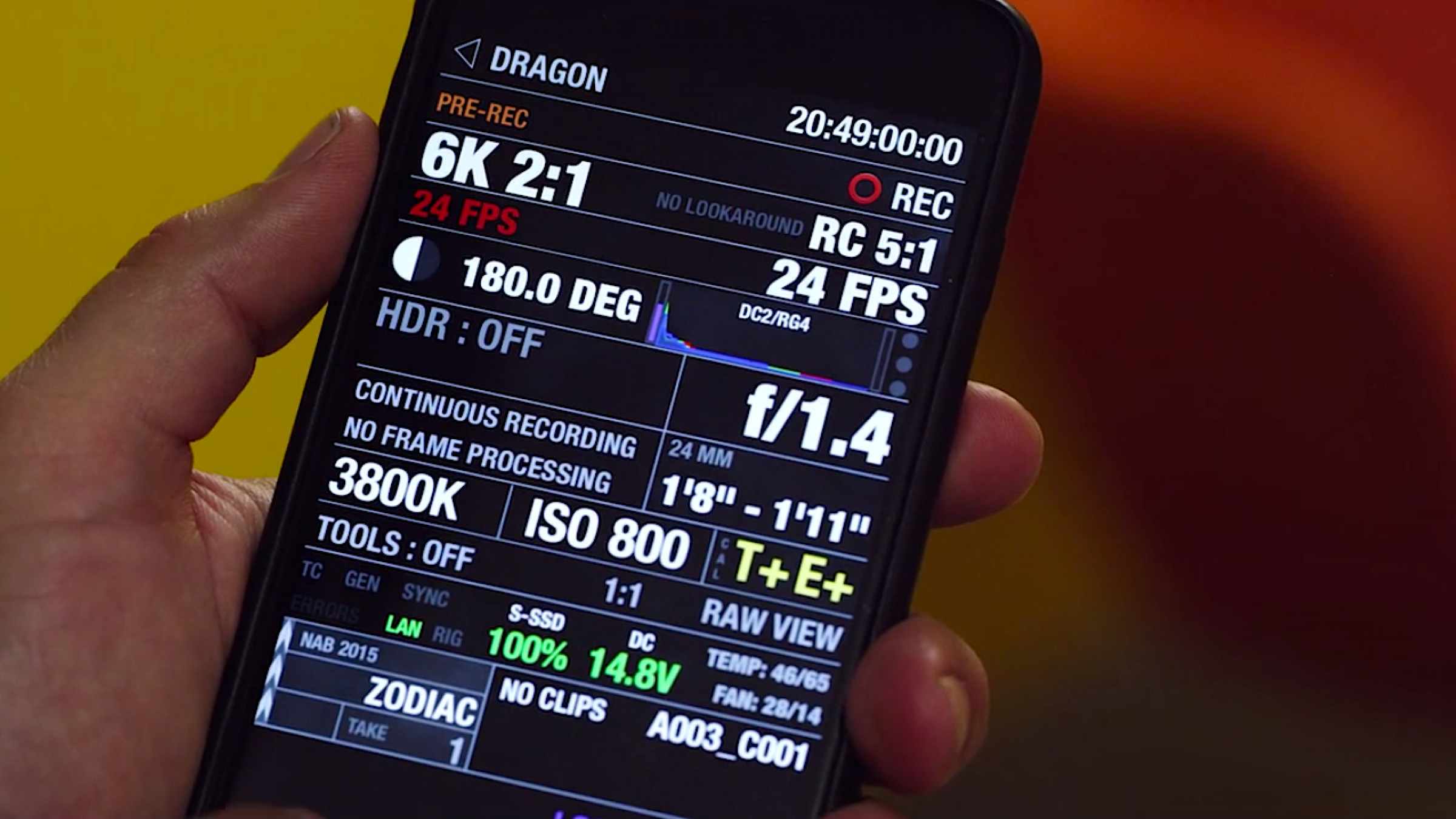 these powerful apps control red cameras wirelessly, were used on