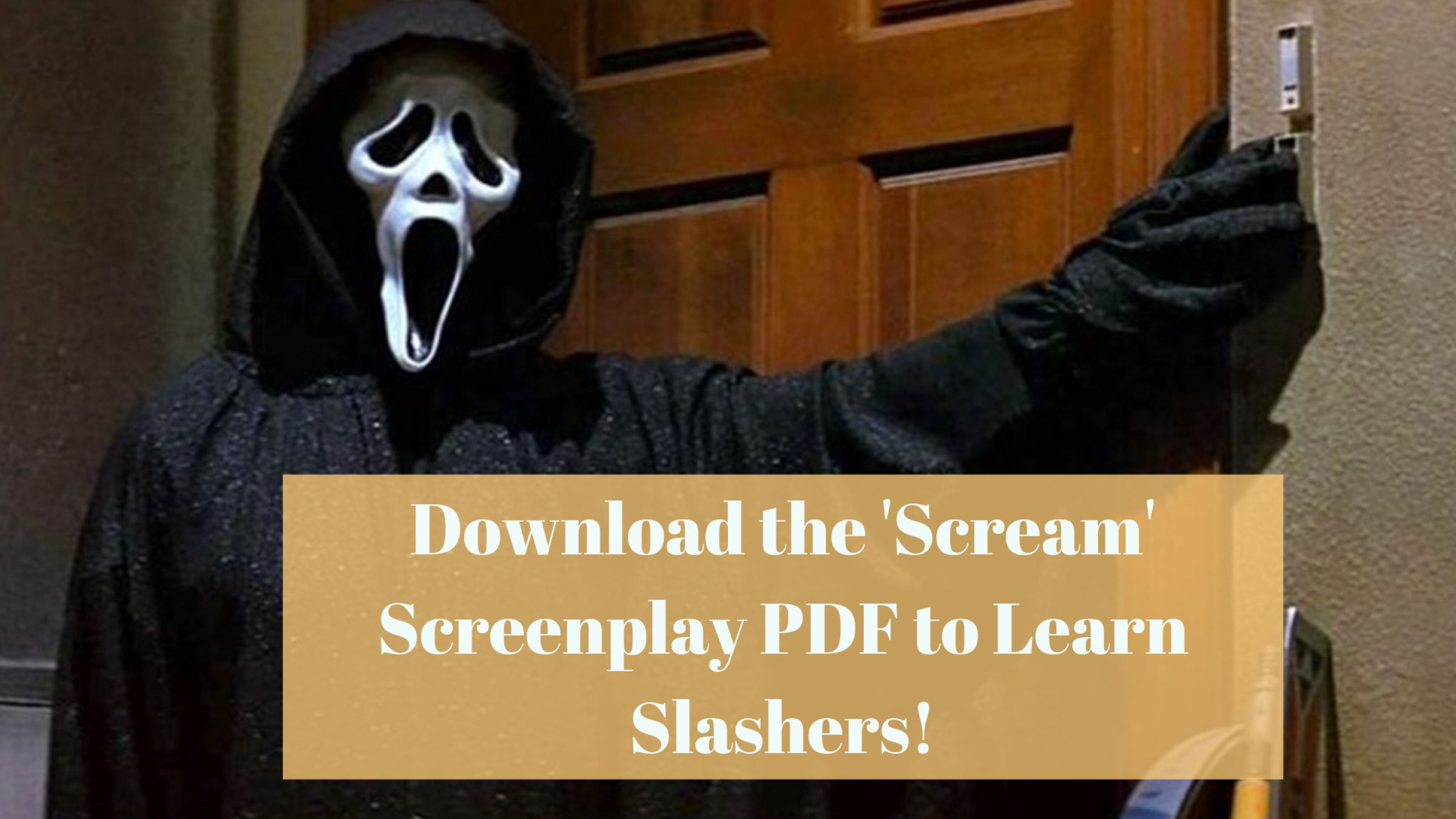 Download The Scream Script Pdf To Learn The Fun Of Killing Characters
