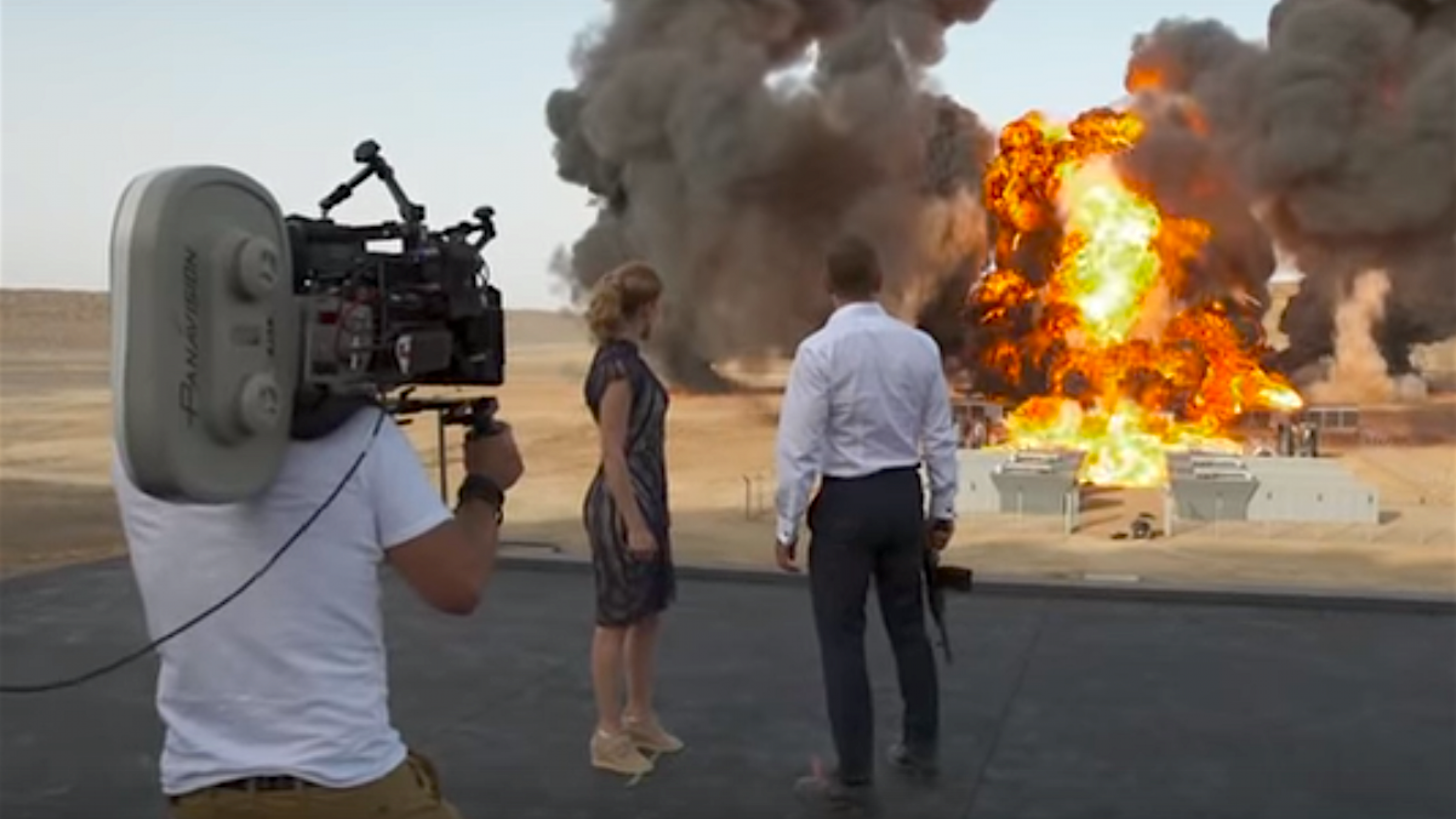 The new james bond film set the world record for biggest movie explosion ever
