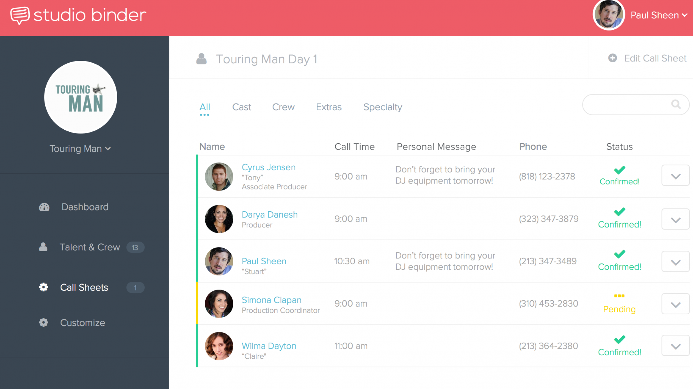 Studio Binder Is Bringing Call Sheets Production Scheduling Into