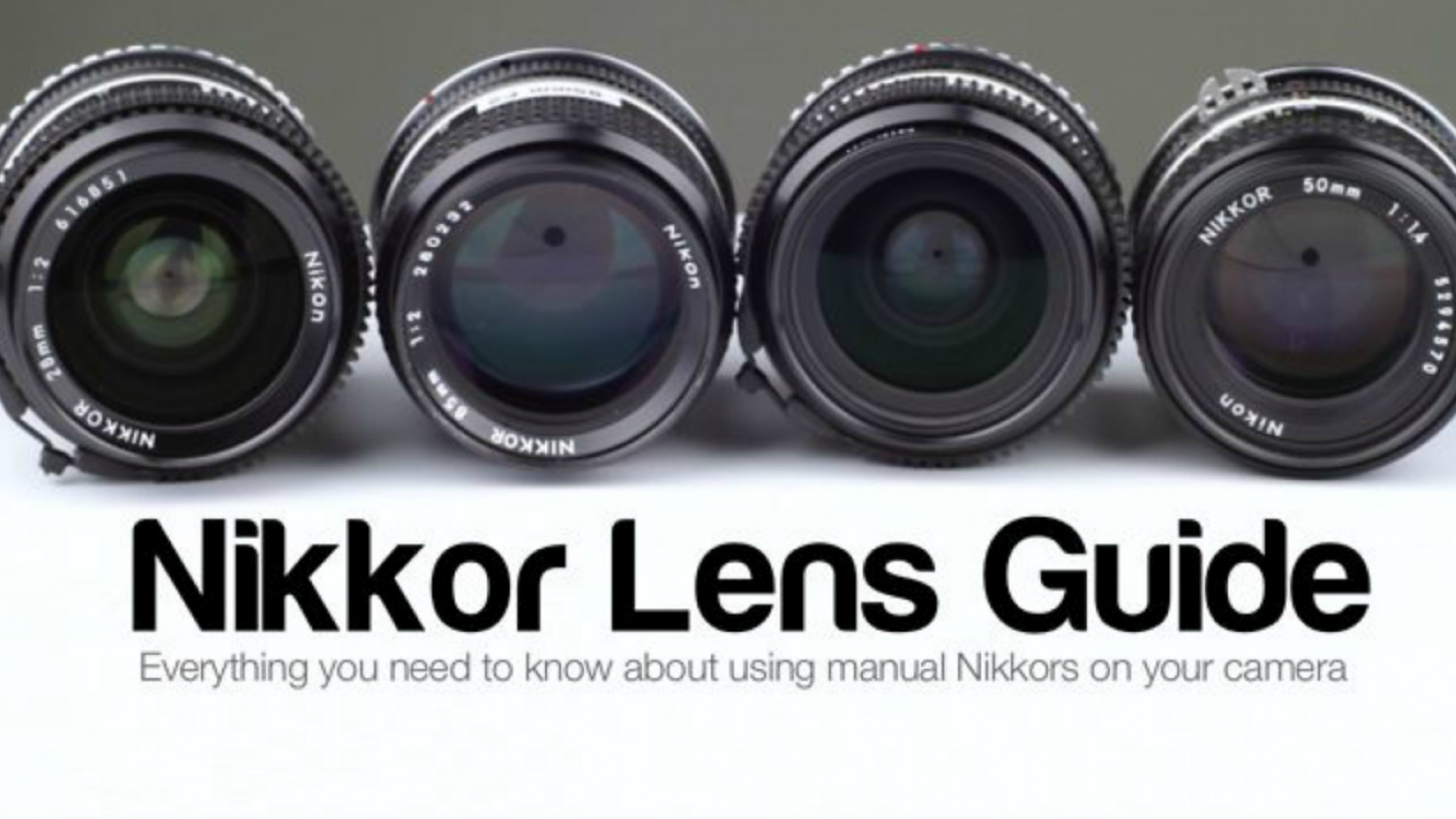 Manual Focus Nikon Primes: The Swiss Army Knife of Lenses