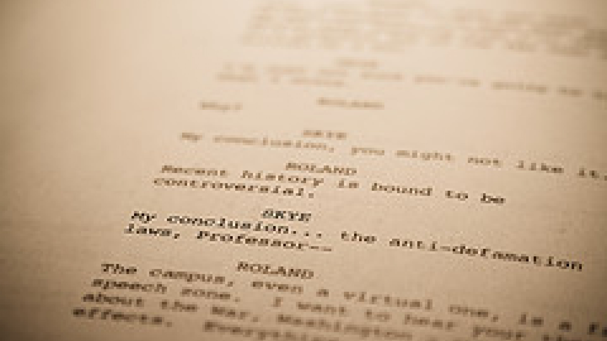 lost in triangulation a screenplay