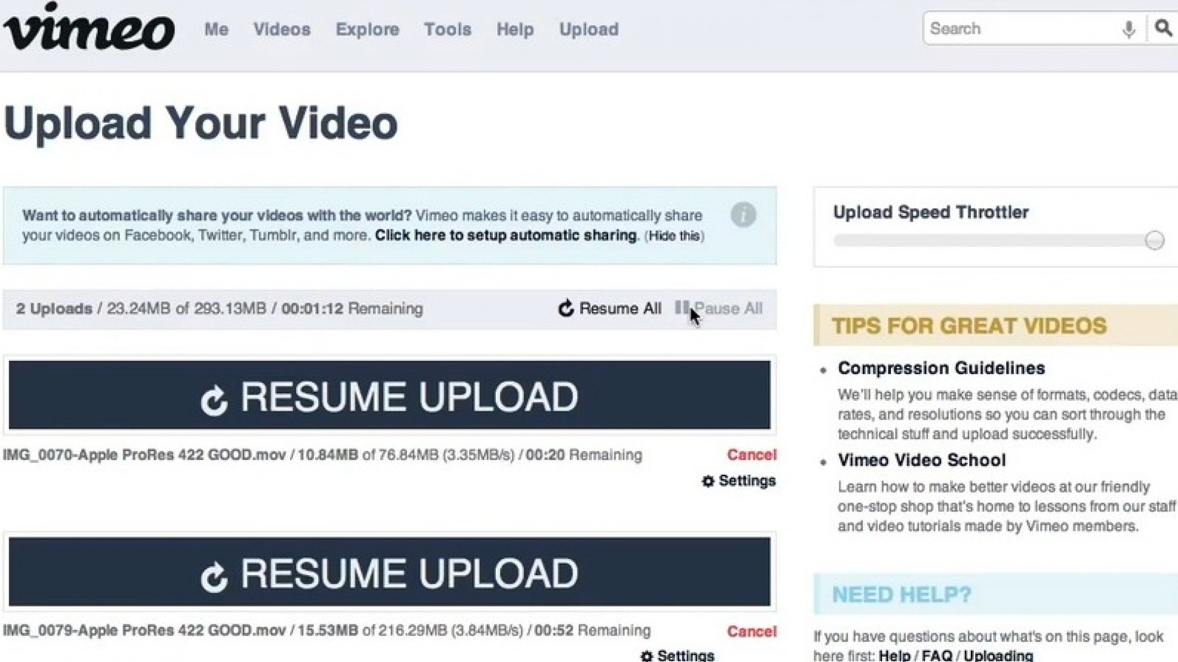 vimeo to make uploading videos more convenient with dropbox integration