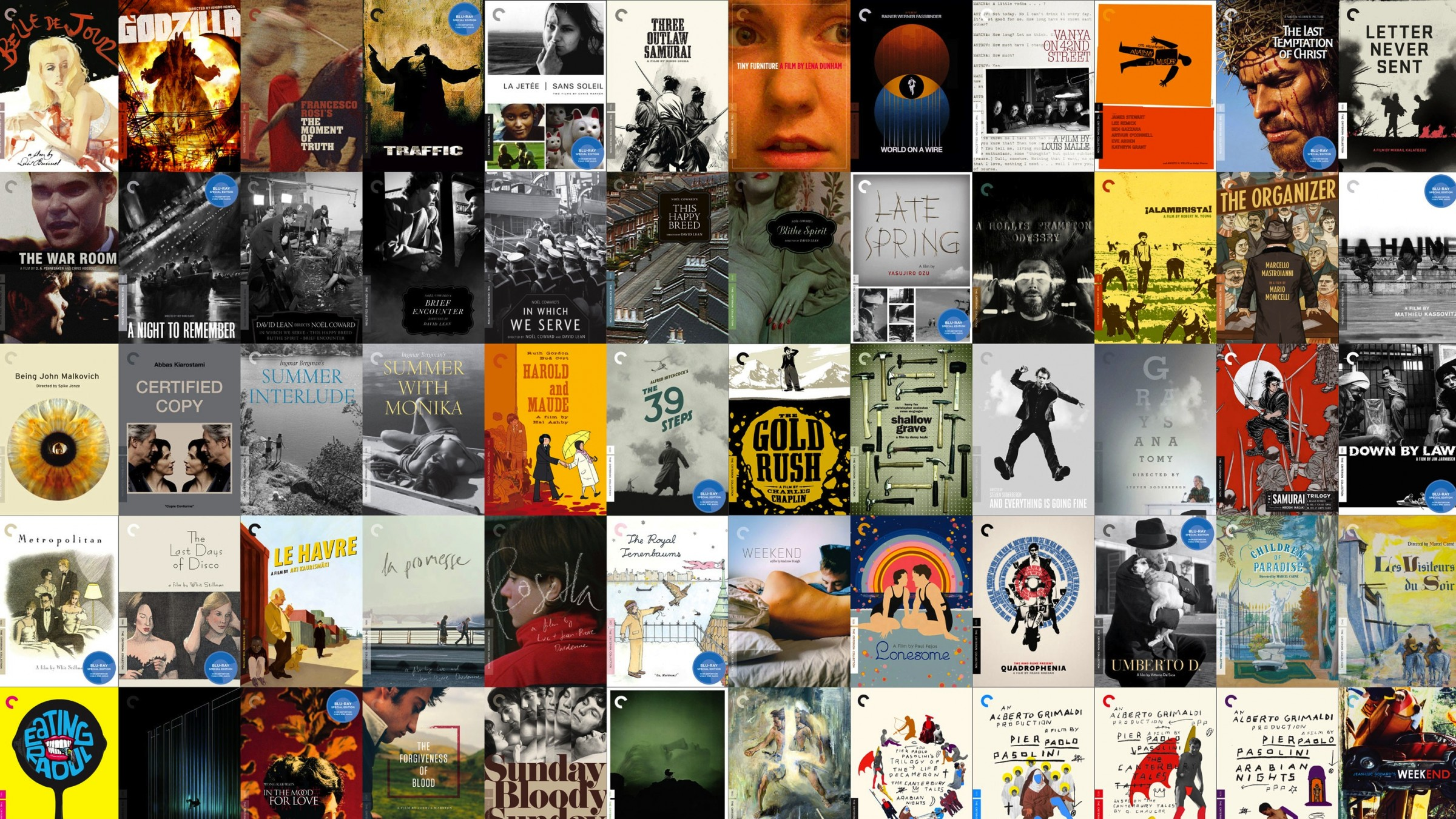 the top 10 criterion films according to todays greatest