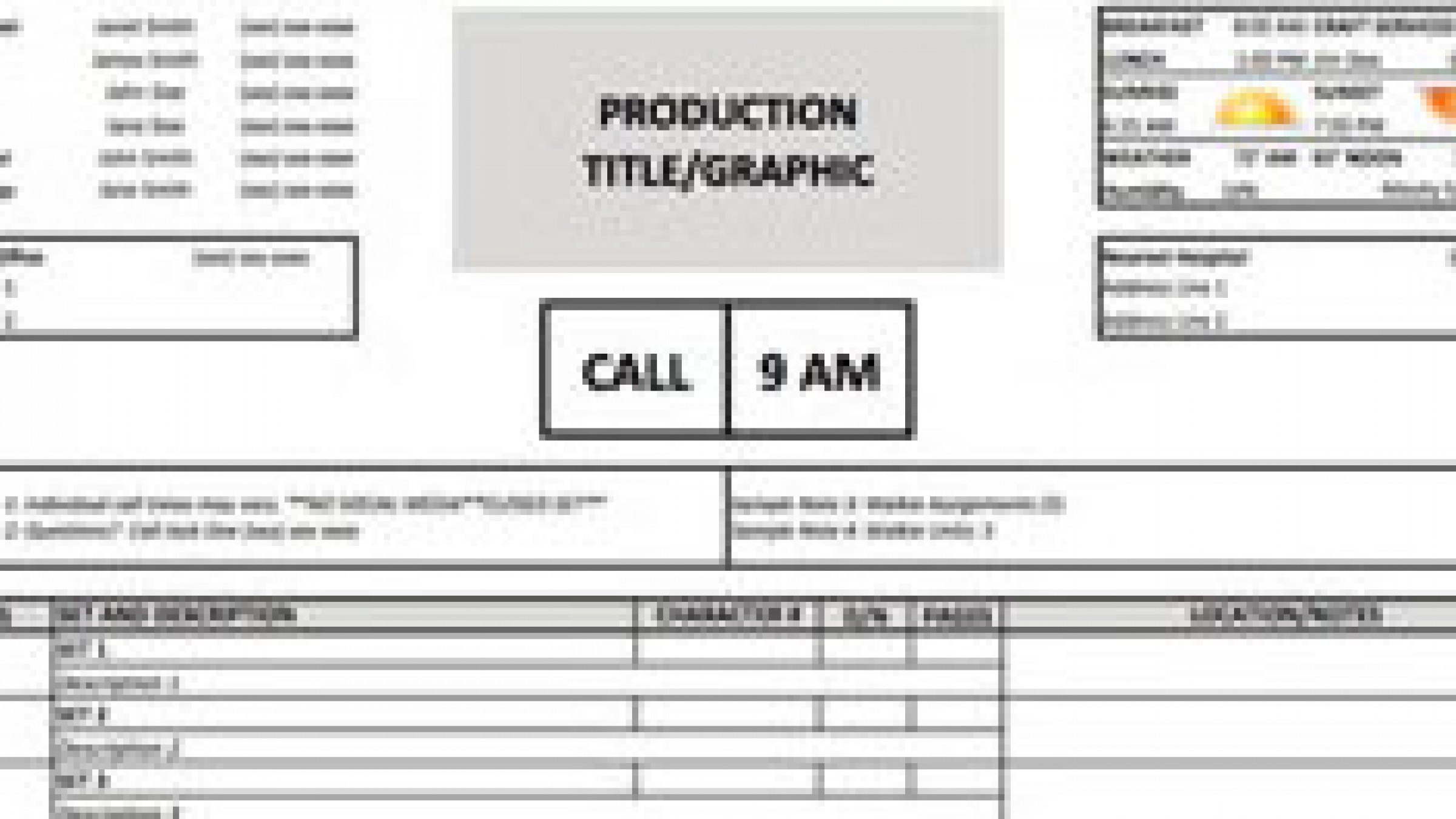 Download A Free Call Sheet Template To Get Your Film Crew On The Same Page
