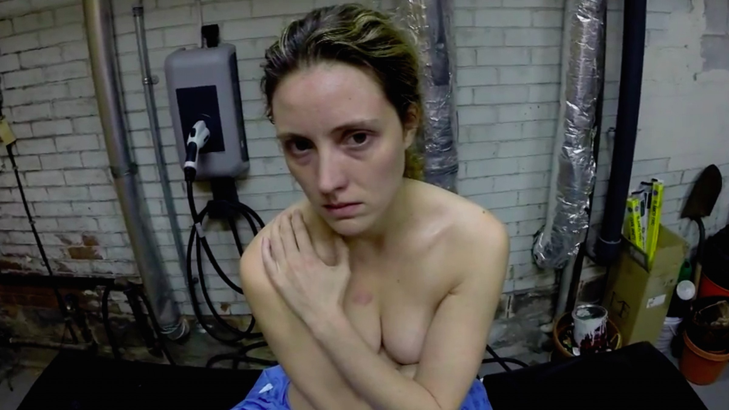 Amateur small breast