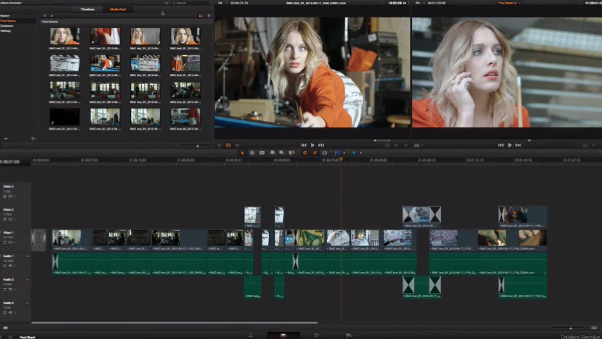how to change pitch in davinci resolve