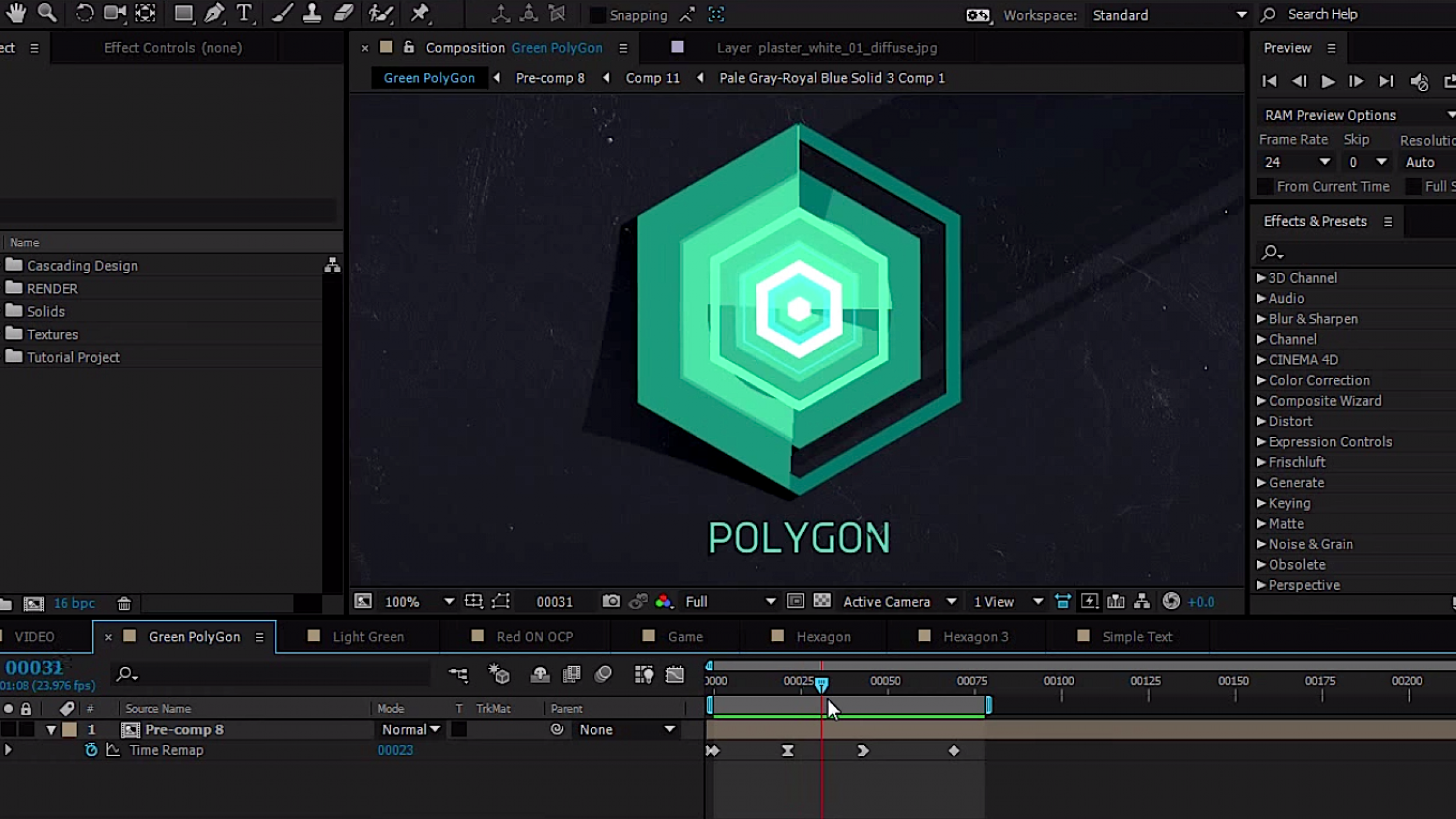 Motion Graphics Tutorial: How to Easily Create Badass Cascading Polygonal Titles
