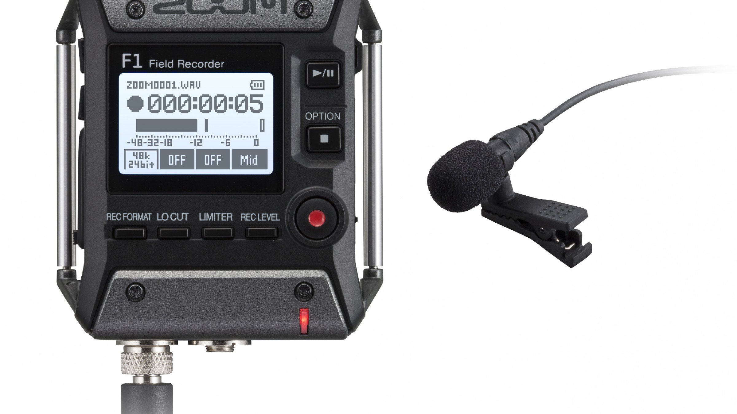 Zoom Adopts Modular Functionality in Tiny New F1 Recorder