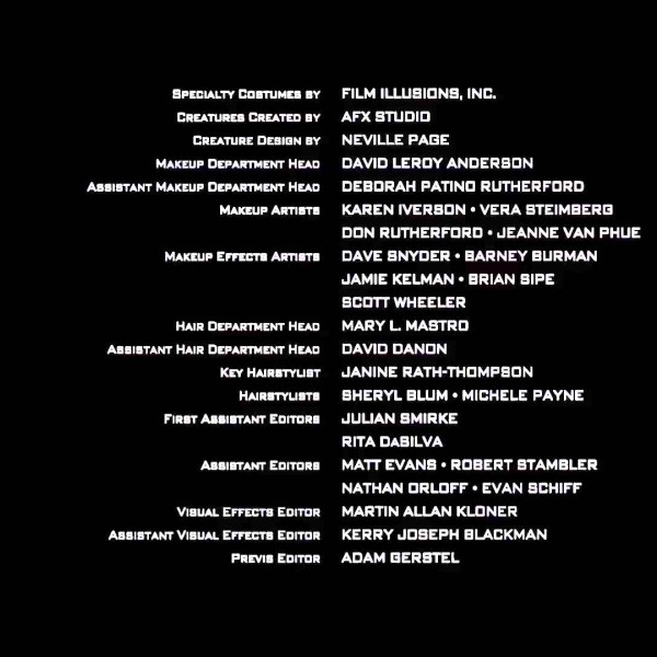 who's who in movie credits: what do all those people do anyway?  no film school