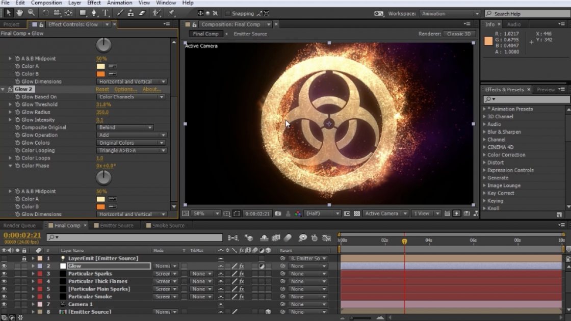 Creating Procedural Fire FX Like 'Catching Fire' Using After Effects