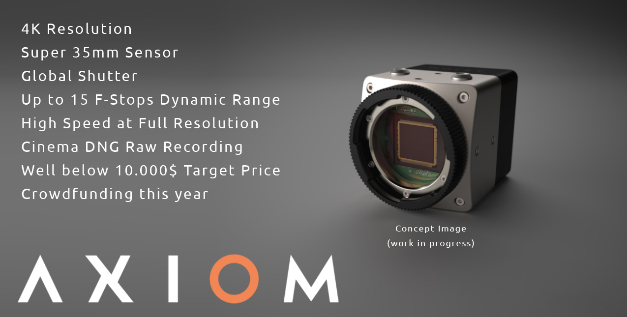 Apertus Announces Axiom Camera: 4K at 150fps, 15 Stop