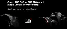 Canon 50D vs 5D Mark II Magic Lantern RAW