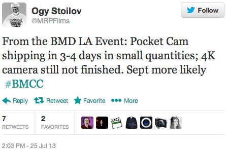 Blackmagic LA Event Tweet