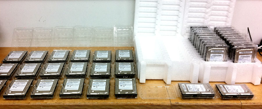 Digital Imaging Technician Harddrives [Photo by Christian Dressler]