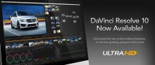DaVinci Resolve 10 Now Shipping