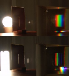Simple_spectroscope prism cri color rendering index full spectrum white light artificial lighting source tungsten incandescent versus fluorescent