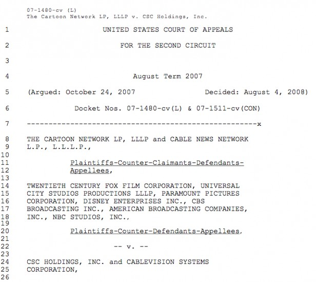 cablevision court of appeals decision cartoon network