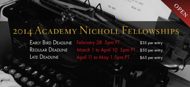 2014 Academy Nicholl Fellowships submissions open