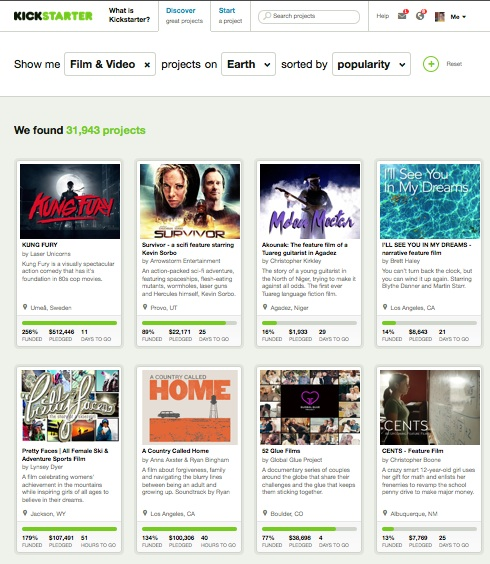 CENTS Kickstarter 8th most popular Film+Video