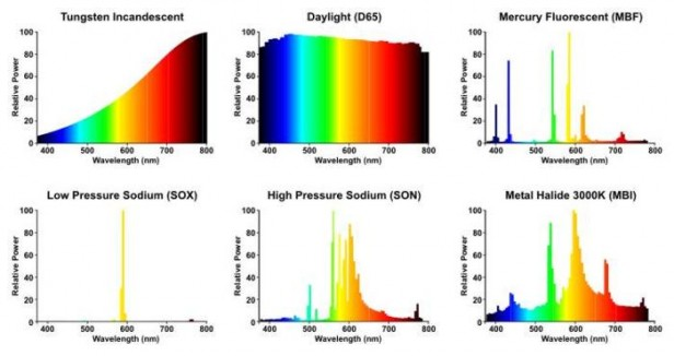 Light Wavelength Chart