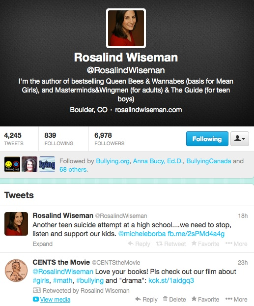 Rosalind Wiseman retweet