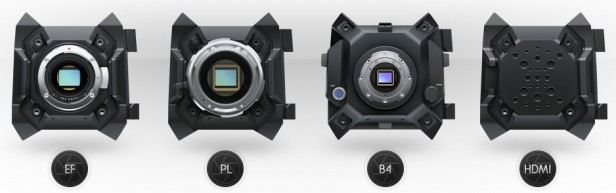Blackmagic Upgradeable EF PL B4 HDMI Cameras