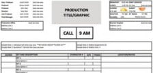 Download a Free Call Sheet Template to Get Your Film Crew on the ...