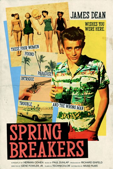 famous movie film poster actor director artist peter stults james dean spring breakers