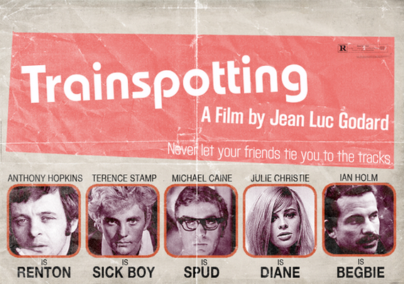 famous movie film poster actor director artist peter stults jean luc godard anthony hopkins trainspotting