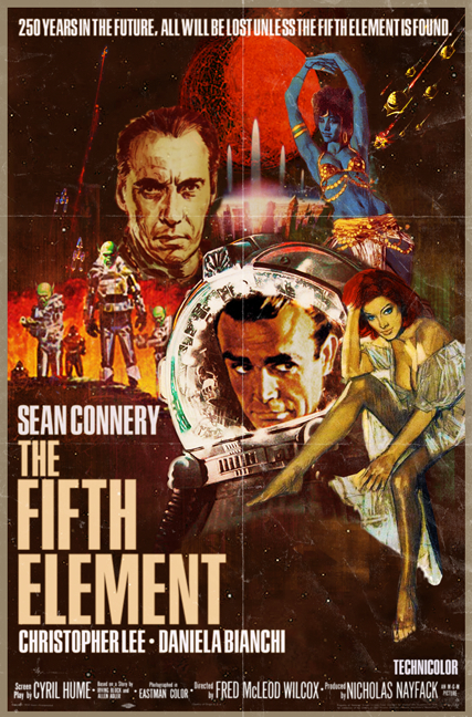 famous movie film poster actor director artist peter stults sean connery fifth element